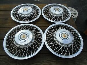 1986 1988 Oldsmobile Calais firenza 13 Wire Hubcaps Set Of 4 Oem Hollander 4102