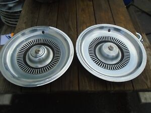 1970 Buick Electra 15 Hubcaps Set Of 2 Oem Hollander 1031