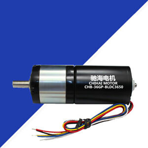 Chb 36gp bl3650 Dc12 24v 36mm Dia Brushless Planetary Gear Motor With Brake
