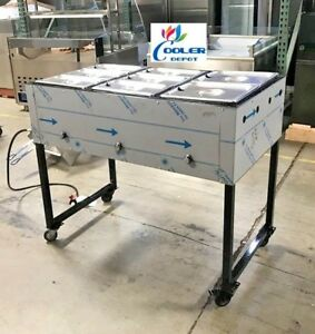 New 43 Catering Food Steamer Warmer Mobile Taco Cart 3 Burner For Propane Use