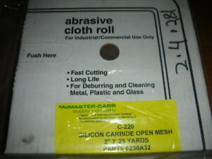 Open Mesh 220 Grit Sanding Roll 2 X 75 Clog Water resistant Mcmaster 8230a32