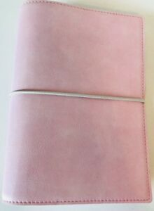New Filofax Domino Soft Pale Pink Pocket Organizer Planner 6 Ring Binder