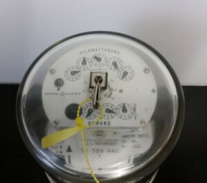 General Electric 700x38g296 Two Stator Watthour Demand Meter