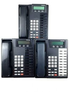 Toshiba Dkt2010 sd 10 button Business Speaker Phones Charcoal lot Of 3
