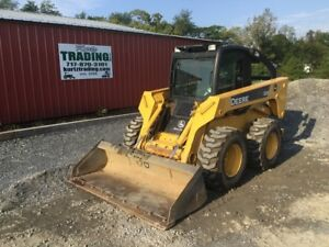 2006 John Deere 328 Skid Steer Loader W Cab 2 Speed Only 1000hrs