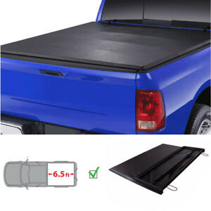 Lock Soft Tri Fold Tonneau Cover For 88 00 Gmc C K Sierra 6 5ft 78 Bed