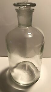 Pyrex 1l Apothecary Glass Bottle With 29 Glass Stopper