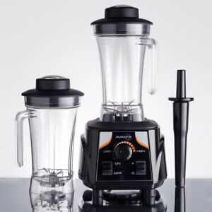 3 1 2 Hp Blender W Toggle Control And Two 64 Oz Polycarbonate Containers New