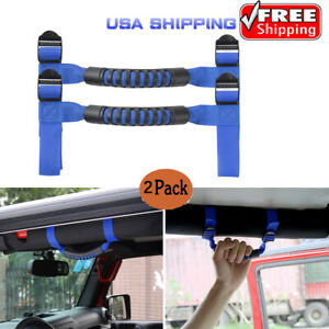 Fit For Blue Jeep Wrangler Accessories Thin Unlimited Roll Bar Grab Handles