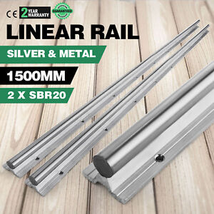 Sbr20 1500 20mm 2x Linear Guideway Rail Set Cnc Shaft Rod Smooth Sliding Unique