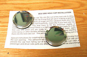 1940 1966 Chevy Truck Bedside Curl Hole Polished Aluminum Caps Pair Usa Made