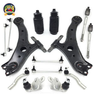 14 Piece Steering Suspension Kit Control Arms Tie Rods For Toyota Camry 07 11