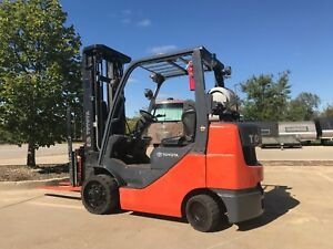 2012 Toyota 6000 Pound Lpg propane Budget Forklift we Will Ship G d Value
