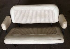 1966 1977 Early Ford Bronco Factory Rear back Parchment Seat Complete