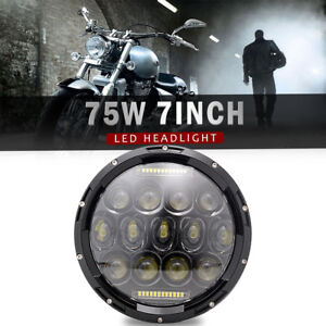 1 7 Projector Daymaker Hid Led Light Bulb Headlight For Harley Motorcycle
