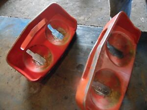 Massey Ferguson 165 Gas Farm Tractor Fender Light Buckets 1 Is Chipped
