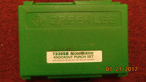 Greenlee 7238sb Slug Buster Knockout Punch Set W wrench Driver For 1 2 Thru 2
