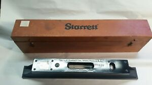 Starrett No 199 Master Precision 15in Level With Case