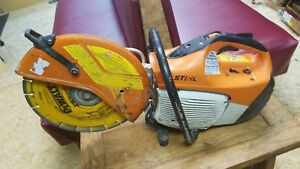 Stihl Ts 420 Gas Concrete Cutoff Saw 14 Tested Working Starts Easily