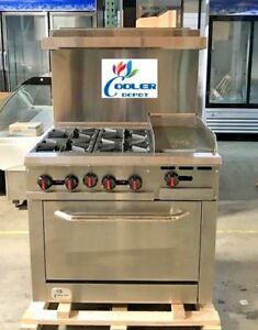 New 36 Oven Range Combo Griddle Hot Plate Stove Top Commercial Kitchen Nsf