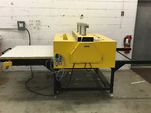Us 220v 39 X 47 Pneumatic Double Working Table Large Format Heat Press Machine