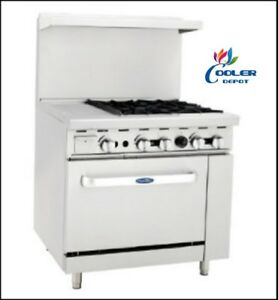 New 36 Commercial Gas Oven Range 12 Griddle And 4 Burner Stove Top Combo nsf