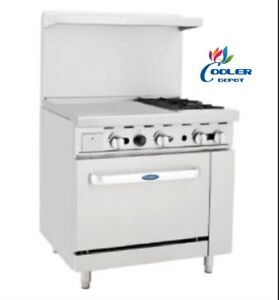 New 36 Commercial Gas Oven Range 24 Griddle And 2 Burner Stove Top Combo nsf