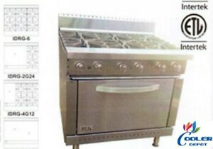 New 36 Oven Range 6 Burner Hp Stove Top Commercial Kitchen Made In Usa nsf