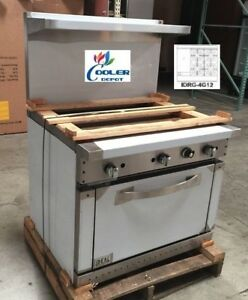 New 36 Oven Range Griddle Hot Plate Combo Commercial Kitchen Made In Usa Nsf