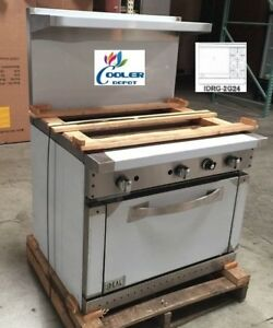 New 36 Oven Range Griddle 2 Burner Combo Commercial Kitchen Made In Usa Nsf