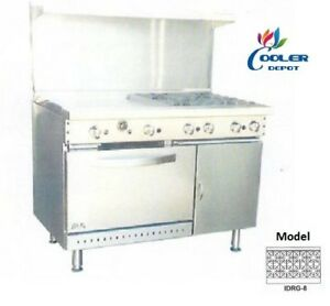 New 48 Oven Range 8 Burner Hp Stove Top Commercial Kitchen Made In Usa Nsf
