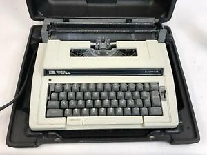 Vintage Smith Corona Electra Xt Model 3l Electric Typewriter W Hard Case Tested