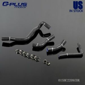 Silicone Radiator Coolant Hose Piping Kit For Vw Golf 1 6 Mk4 A Hose Black