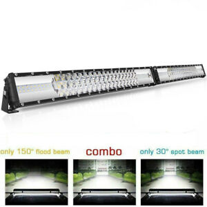 6272w 52 Inch Curved Led Work Light Bar Flood Spot Offroad Suv For Jeep Vs 22 12