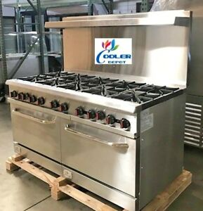 New 10 Burner Range Heavy Duty 60 Commercial Restaurant Stove Gas D