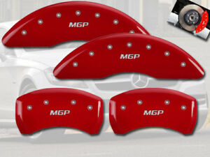2010 2016 Mercedes Benz E350 Front Rear Red Mgp Brake Disc Caliper Covers 4pc