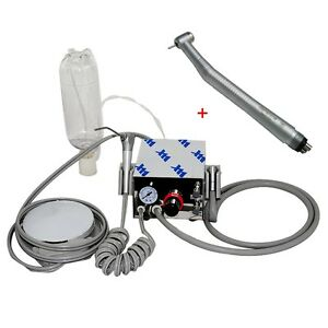 Portable Dental Turbine Unit Air Compressor Fast High Speed Handpiece 1w 4h Ce