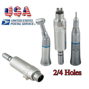 Dental Low Speed Handpiece Push Contra Angle Straight Motor Fit Nsk 2 4 Hole H4