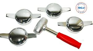 Zenith Smooth Chrome Knock Off Spinners Hammer For Lowrider Wire Wheels M