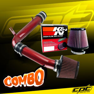 98 02 Honda Accord 3 0l V6 Red Cold Air Intake K N Air Filter