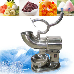 Commercial Ice Shaver Crusher Shaving Process Snow Cone Maker Machine Device New