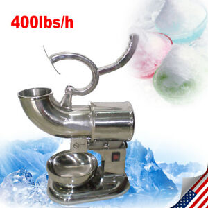 400lbs Ice Shaver Machine Snow Cone Maker Electric Crusher Shaving Summer Cool