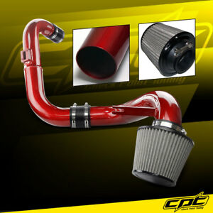 For 06 11 Honda Civic Dx Lx Ex 1 8l Red Cold Air Intake Stainless Air Filter