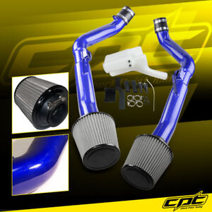 For 07 08 G35 4dr Mt 3 5l V6 Blue Cold Air Intake Stainless Steel Air Filter