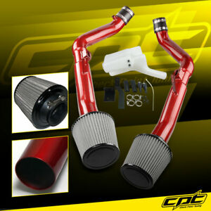 For 07 08 G35 4dr Mt 3 5l V6 Red Cold Air Intake Stainless Steel Air Filter