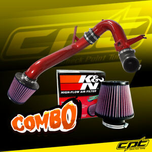 09 14 Acura Tsx 2 4l 4cyl Red Cold Air Intake K N Air Filter