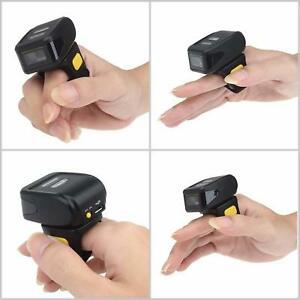Mini Wireless Portable Wearable Ring Barcode Scanner 1d Reader 512k Memory New