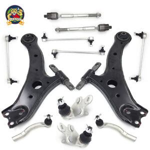For 07 11 Toyota Camry Steering Suspension Kit Control Arms Tie Rods Sway Bar