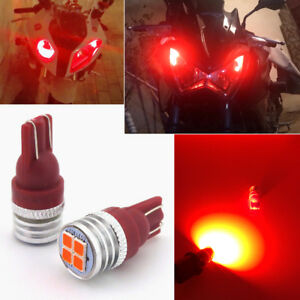 Brilliant Red Motorcycle Position Parking City Lights 2825 168 194 Smd Led Bulbs