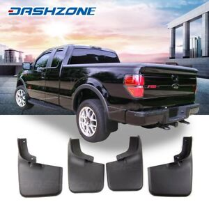 Front Rear Splash Mud Guards Flaps Fit 2004 2014 Ford F150 With Wheel Lip Flare